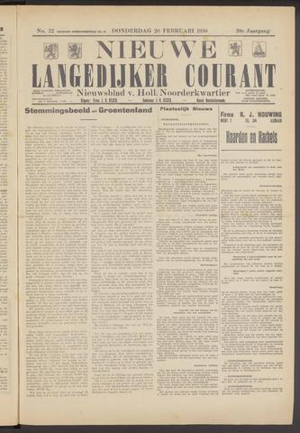 Nieuwe Langedijker Courant 1930-02-20