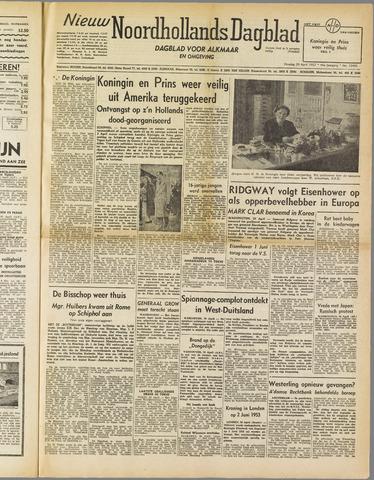 Nieuw Noordhollandsch Dagblad : voor Alkmaar en omgeving 1952-04-29