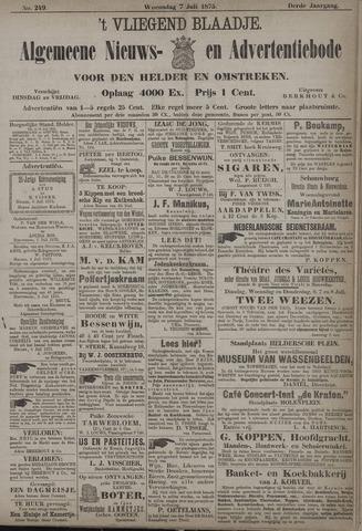 Vliegend blaadje : nieuws- en advertentiebode voor Den Helder 1875-07-07