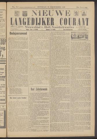Nieuwe Langedijker Courant 1929-12-31