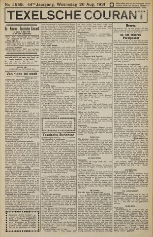 Texelsche Courant 1931-08-26