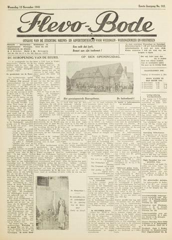 Flevo-bode: nieuwsblad voor Wieringen-Wieringermeer 1946-11-13