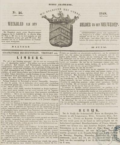 Weekblad van Den Helder en het Nieuwediep 1848-06-19