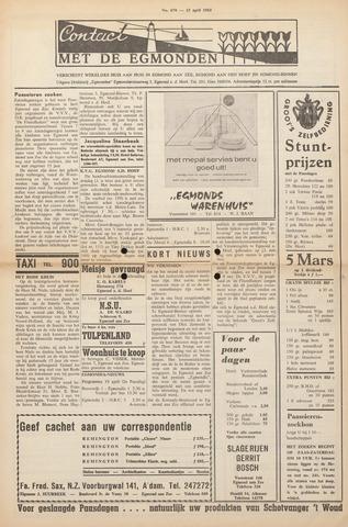 Contact met de Egmonden 1965-04-15