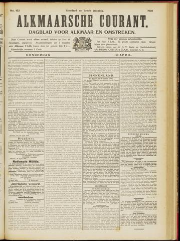 Alkmaarsche Courant 1908-04-30