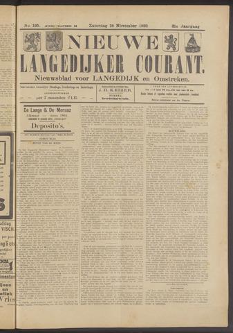 Nieuwe Langedijker Courant 1922-11-18