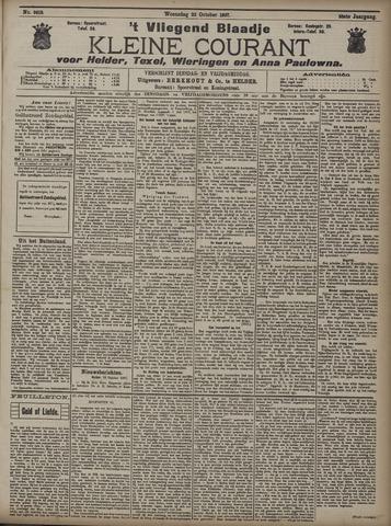 Vliegend blaadje : nieuws- en advertentiebode voor Den Helder 1907-10-23
