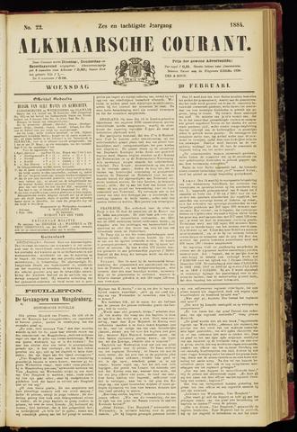Alkmaarsche Courant 1884-02-20