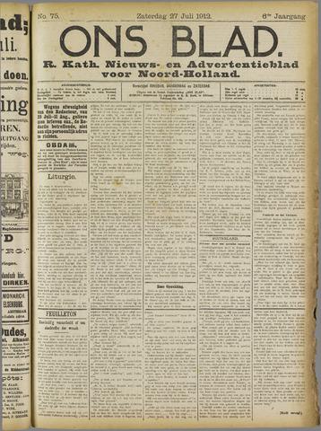 Ons Blad : katholiek nieuwsblad voor N-H 1912-07-27