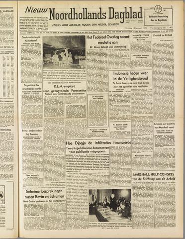 Nieuw Noordhollandsch Dagblad : voor Alkmaar en omgeving 1949-01-14