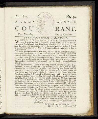 Alkmaarsche Courant 1807-10-05