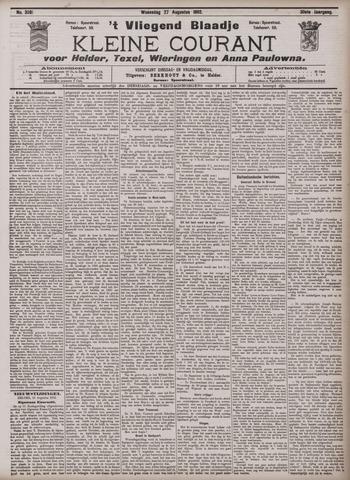 Vliegend blaadje : nieuws- en advertentiebode voor Den Helder 1902-08-27