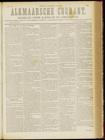 Alkmaarsche Courant 1918-09-09