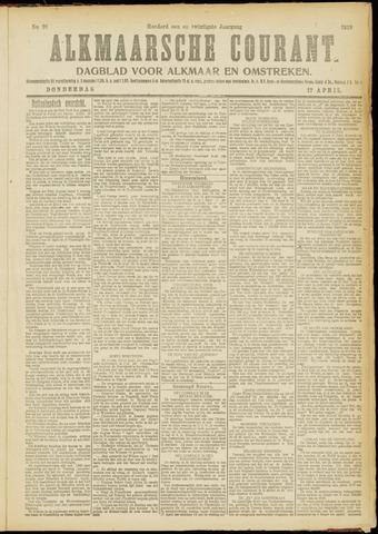 Alkmaarsche Courant 1919-04-17
