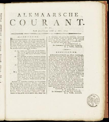 Alkmaarsche Courant 1817-05-19
