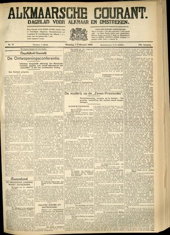 Alkmaarsche Courant 1933-02-07
