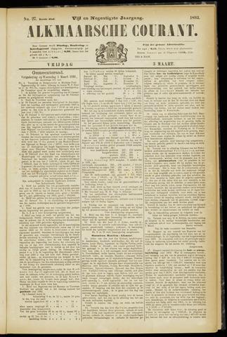 Alkmaarsche Courant 1893-03-03