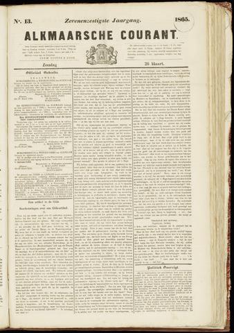 Alkmaarsche Courant 1865-03-26
