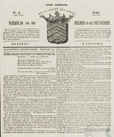 Weekblad van Den Helder en het Nieuwediep 1848-01-17