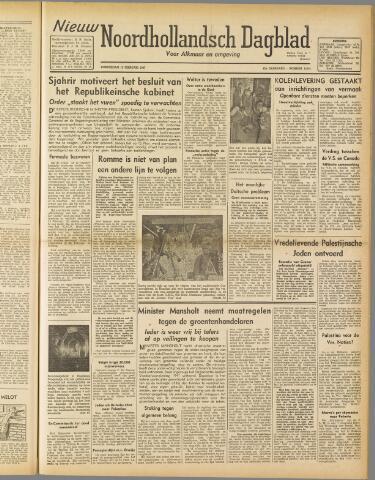 Nieuw Noordhollandsch Dagblad : voor Alkmaar en omgeving 1947-02-13