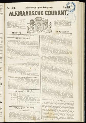 Alkmaarsche Courant 1855-11-19