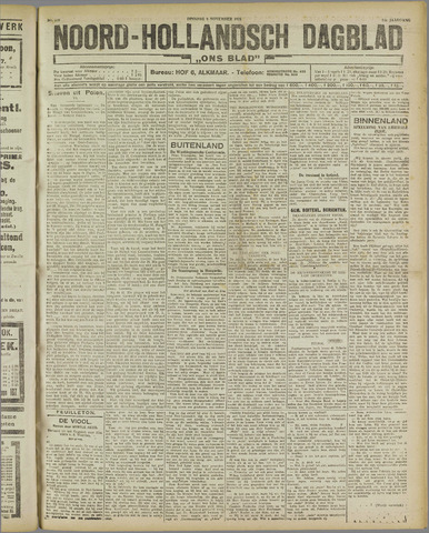 Ons Blad : katholiek nieuwsblad voor N-H 1921-11-08