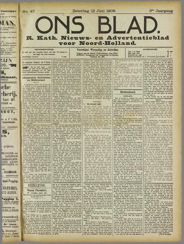 Ons Blad : katholiek nieuwsblad voor N-H 1909-06-12