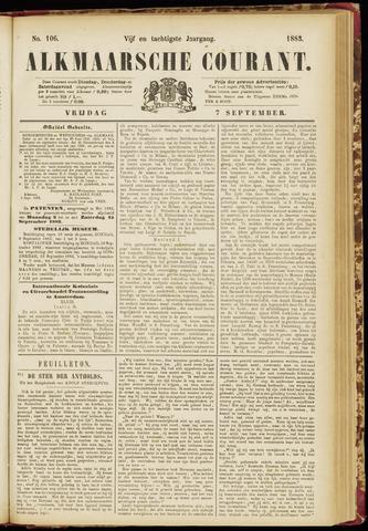Alkmaarsche Courant 1883-09-07