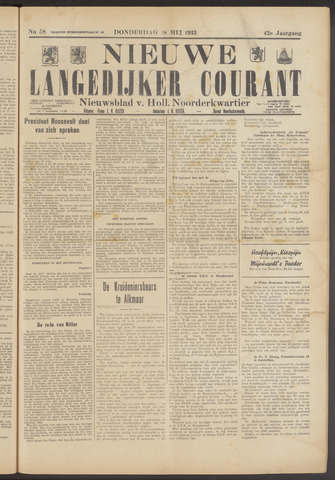 Nieuwe Langedijker Courant 1933-05-18