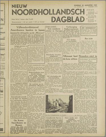 Nieuw Noordhollandsch Dagblad : voor Alkmaar en omgeving 1945-08-28