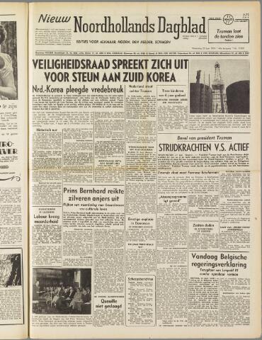 Nieuw Noordhollandsch Dagblad : voor Alkmaar en omgeving 1950-06-28