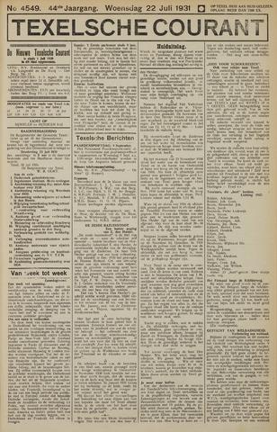 Texelsche Courant 1931-07-22