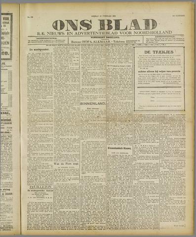 Ons Blad : katholiek nieuwsblad voor N-H 1921-02-25