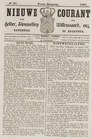 Nieuwe Courant van Den Helder 1861-08-31