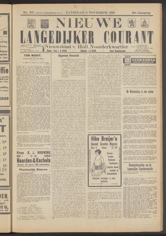 Nieuwe Langedijker Courant 1929-11-09