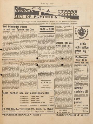 Contact met de Egmonden 1965-01-07