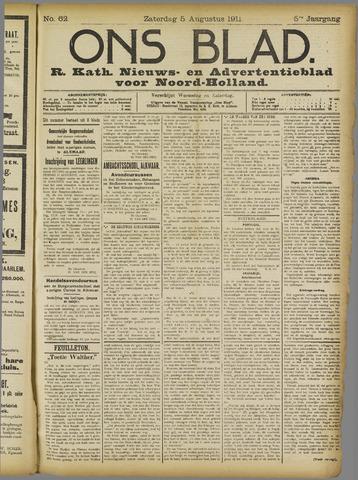 Ons Blad : katholiek nieuwsblad voor N-H 1911-08-05