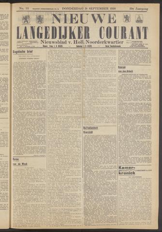 Nieuwe Langedijker Courant 1930-09-18