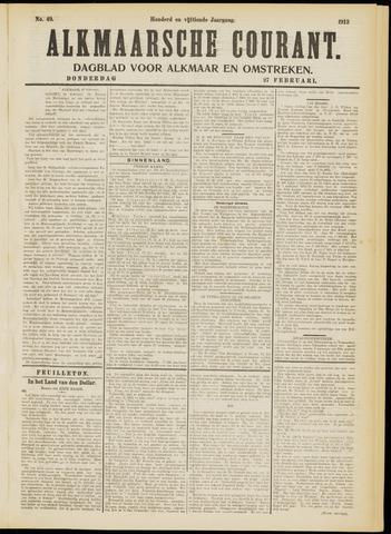 Alkmaarsche Courant 1913-02-27