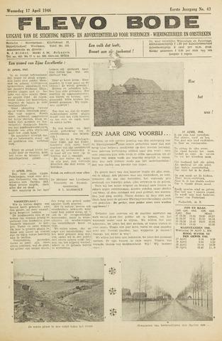 Flevo-bode: nieuwsblad voor Wieringen-Wieringermeer 1946-04-17