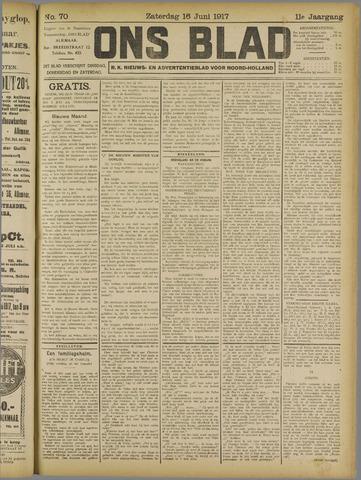 Ons Blad : katholiek nieuwsblad voor N-H 1917-06-16