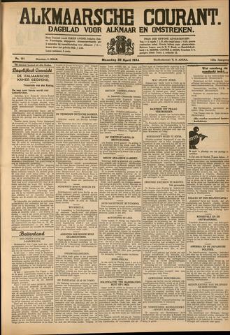 Alkmaarsche Courant 1934-04-30