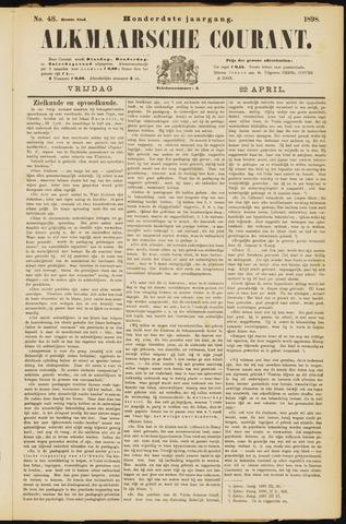 Alkmaarsche Courant 1898-04-22
