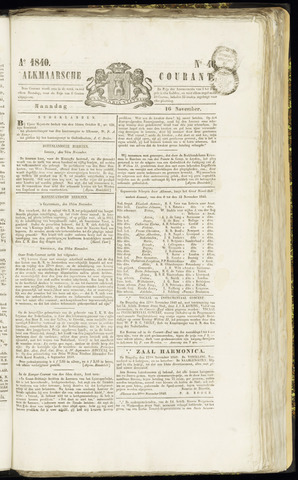 Alkmaarsche Courant 1840-11-16