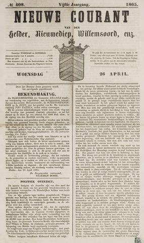 Nieuwe Courant van Den Helder 1865-04-26