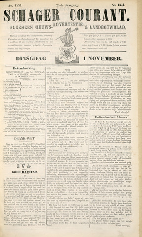Schager Courant 1881-11-01
