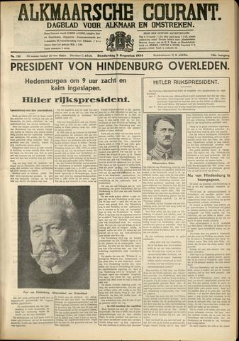 Alkmaarsche Courant 1934-08-02