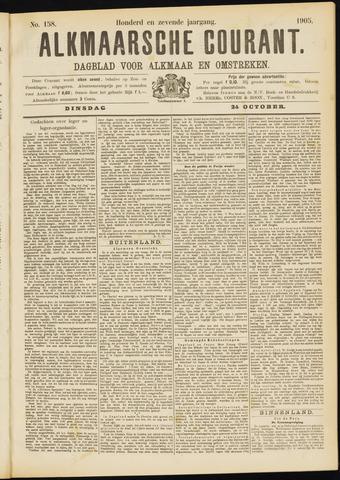 Alkmaarsche Courant 1905-10-24