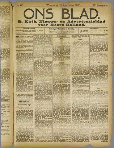 Ons Blad : katholiek nieuwsblad voor N-H 1908-08-12