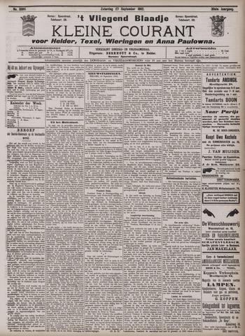 Vliegend blaadje : nieuws- en advertentiebode voor Den Helder 1902-09-27
